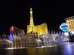Vegas am Abend.