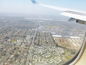 Über Los Angeles.